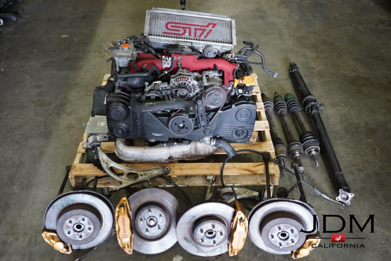 JDM EJ207 STI VERSION 8 Engine with 6 spd Transmission from Subaru Wrx Sti  2004-2005 with Brembo